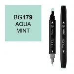 ShinHan Art TOUCH Twin Aqua Mint Marker: Black, Blue, Double-Ended, Alcohol-Based, Refillable, Dual, (model 1110179-BG179), price per each
