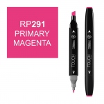 ShinHan Art TOUCH Twin Primary Magenta Marker: Black, Red/Pink, Double-Ended, Alcohol-Based, Refillable, Dual, (model 1110291-RP291), price per each