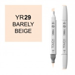 ShinHan Art TOUCH Twin Brush Twin Marker Bareley Beige: White, White/Ivory, Double-Ended, Alcohol-Based, Refillable, Dual