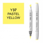 ShinHan Art TOUCH Twin Brush Pastel Yellow Marker: White, Yellow, Double-Ended, Alcohol-Based, Refillable, Dual, (model 1210037-Y37), price per each