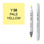 ShinHan Art TOUCH Twin Brush Pale Yellow Marker: White, Yellow, Double-Ended, Alcohol-Based, Refillable, Dual, (model 1210038-Y38), price per each