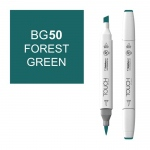 ShinHan Art TOUCH Twin Brush Forest Green Marker: White, Green, Double-Ended, Alcohol-Based, Refillable, Dual, (model 1210050-BG50), price per each