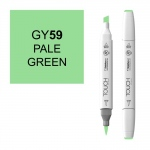 ShinHan Art TOUCH Twin Brush Pale Green Marker: White, Green, Double-Ended, Alcohol-Based, Refillable, Dual, (model 1210059-GY59), price per each