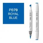 ShinHan Art TOUCH Twin Brush Royal Blue Marker: White, Blue, Double-Ended, Alcohol-Based, Refillable, Dual, (model 1210070-PB70), price per each