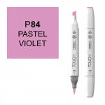 ShinHan Art TOUCH Twin Brush Pastel Violet Marker: White, Purple, Double-Ended, Alcohol-Based, Refillable, Dual, (model 1210084-P84), price per each