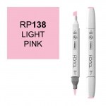 ShinHan Art TOUCH Twin Brush Light Pink Marker: White, Red/Pink, Double-Ended, Alcohol-Based, Refillable, Dual, (model 1210138-RP138), price per each