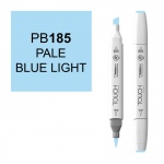 ShinHan Art TOUCH Twin Brush Pale Blue Light Marker: White, Blue, Double-Ended, Alcohol-Based, Refillable, Dual, (model 1210185-PB185), price per each