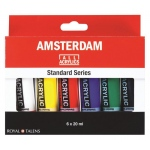 Royal Talens Amsterdam® All Acrylic Standard Ser 6-Color Paint Set 20ml: Multi, Tube, 20 ml, Acrylic