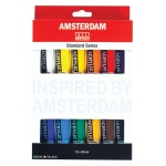 Royal Talens Amsterdam® All Acrylic Standard Ser 12-Color Paint Set 20ml: Multi, Tube, 20 ml, Acrylic, (model 17820412), price per set