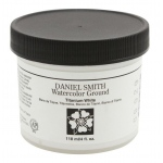 Daniel Smith Watercolor Ground 4oz Titanium White: White/Ivory, Jar, 4 oz, Watercolor, (model 284055002), price per each