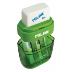 Milan® Compact Sharpener/Eraser Display: Two, Manual, (model 4703116D), price per each