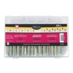 Pigma® 59-Piece Artist Gift Set: Pigment, 59-Pack, Technical, (model 50050), price per set