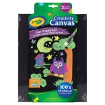 "Crayola® Black Creativity Canvas Boards: Black/Gray, Panel/Board, 2-Pack, 9"" x 12"", Panel/Board, (model 54-1051), price per 2-Pack"