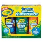 Crayola® Washable Fingerpaint Secondary Set: Bottle, 3-Pack, 8 oz, Washable, (model 55-1311), price per set