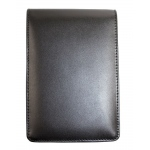 Hand Book Journal Co.™ Quattro™ Leather Pad Holder Black: Black/Gray, Leather
