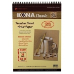 "Hand Book Journal Co.™ Kona Tan Artist Paper 9"" x 12"": Wire Bound, Brown, 36 Sheets, 9"" x 12"", 88 lb, (model 664912), price per 36 Sheets pad"