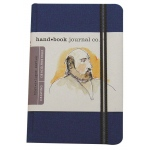 "Hand Book Journal Co.™ Travelogue Series Artist Journal 5.5"" x 3.5"" Pocket Portrait Ultramarine Blue: Blue, 128 Sheets, 3 1/2"" x 5 1/2"", Heavyweight"