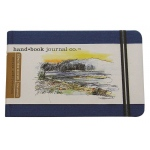 "Hand Book Journal Co.™ Travelogue Series Artist Journal 3.5"" x 5.5"" Pocket Landscape Ultramarine Blue: Black/Gray, 128 Sheets, 3 1/2"" x 5 1/2"", Heavyweight, (model 721222), price per each"