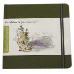 "Hand Book Journal Co.™ Travelogue Series Artist Journal 5.5"" x 5.5"" The Square Cadmium Green: Green, 128 Sheets, 5 1/2"" x 5 1/2"", Heavyweight, (model 721333), price per each"