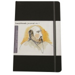 "Hand Book Journal Co.™ Travelogue Series Artist Journal 8.25"" x 5.5"" Large Portrait Ivory Black: Black/Gray, 128 Sheets, 5 1/2"" x 8 1/4"", Heavyweight, (model 721411), price per each"