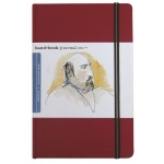 "Hand Book Journal Co.™ Travelogue Series Artist Journal 8.25"" x 5.5"" Large Portrait Vermillion Red: Red/Pink, 128 Sheets, 5 1/2"" x 8 1/4"", Heavyweight, (model 721414), price per each"