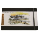 "Hand Book Journal Co.™ Travelogue Series Artist Journal 5.5"" x 8.25"" Large Landscape Ivory Black: Red/Pink, 128 Sheets, 5 1/2"" x 8 1/4"", Heavyweight, (model 721421), price per each"