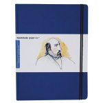 "Hand Book Journal Co.™ Travelogue Series Artist Journal 10.5"" x 8.25"" Grand Portrait Ultramarine Blue: Blue, 128 Sheets, 8 1/4"" x 10 1/2"", Heavyweight, (model 721512), price per each"