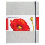 "Hand Book Journal Co.™ Travelogue Series Watercolor Journal 10.5"" x 8.25"" Grand Portrait Linen: Linen, 60 Sheets, 8 1/4"" x 10 1/2"", 110 lb"