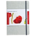 "Hand Book Journal Co.™ Travelogue Series Watercolor Journal 8.25"" x 5.5"" Large Portrait Linen: Linen, 60 Sheets, 5 1/2"" x 8 1/4"", 110 lb"