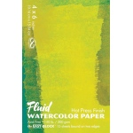 "Hand Book Journal Co.™ Fluid™ Easy-Block™ Hot Press Watercolor Paper 4"" x 6"": 15 Sheets, 4"" x 6"", Hot Press, 140 lb, (model 850046), price per 15 Sheets pad"