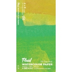 "Hand Book Journal Co.™ Fluid™ Easy-Block™ Hot Press Watercolor Paper 4"" x 8"": 15 Sheets, 4"" x 8"", Hot Press, 140 lb, (model 850048), price per 15 Sheets pad"