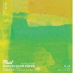 "Hand Book Journal Co.™ Fluid™ Easy-Block™ Hot Press Watercolor Paper 8"" x 8"": 15 Sheets, 8"" x 8"", Hot Press, 140 lb"