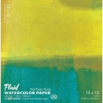 "Hand Book Journal Co.™ Fluid™ Easy-Block™ Hot Press Watercolor Paper 12"" x 12"": 15 Sheets, 12"" x 12"", Hot Press, 140 lb, (model 851212), price per 15 Sheets pad"