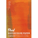"Hand Book Journal Co.™ Fluid™ Easy-Block™ Cold Press Watercolor Paper 4"" x 6"": 15 Sheets, 4"" x 6"", Cold Press, 140 lb, (model 880046), price per 15 Sheets pad"