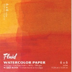 "Hand Book Journal Co.™ Fluid™ Easy-Block™ Cold Press Watercolor Paper 6"" x 6"": 15 Sheets, 6"" x 6"", Cold Press, 140 lb, (model 880066), price per 15 Sheets pad"