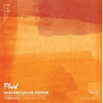 "Hand Book Journal Co.™ Fluid™ Easy-Block™ Cold Press Watercolor Paper 8"" x 8"": 15 Sheets, 8"" x 8"", Cold Press, 140 lb"