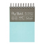 "Hand Book Journal Co.™ Flip-Sketch™ Wire-Bound Sketchbook 5"" x 7"" Portrait Pool: Wire Bound, Blue, 100 Sheets, 5"" x 7"", 60 lb"