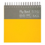 "Hand Book Journal Co.™ Flip-Sketch™ Wire-Bound Sketchbook 8"" x 8"" Square Butternut: Wire Bound, Yellow, 100 Sheets, 8"" x 8"", 60 lb"