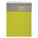 "Hand Book Journal Co.™ Flip-Sketch™ Wire-Bound Sketchbook 9"" x 12"" Portrait Fern: Wire Bound, Green, 100 Sheets, 9"" x 12"", 60 lb"