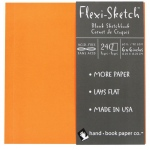 "Hand Book Journal Co.™ Flexi-Sketch™ Soft-Cover Sketchbook 6"" x 6"" Square Mandarin: Orange, 240 Sheets, 6"" x 6"", 60 lb"