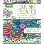 "Crayola® Aged Up Coloring Book Folk Art Escapes: Book, 8 1/2"" x 10"", (model 99-2020), price per each"