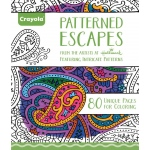 "Crayola® Aged Up Coloring Book Patterned Escapes: Book, 8 1/2"" x 10"", (model 99-2022), price per each"