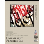 "Bee Paper® Calligraphy Practice Pad 11"" x 14"": Tape Bound, White/Ivory, Pad, 50 Sheets, 11"" x 14"", 16 lb, (model B1005T50-1114), price per 50 Sheets pad"