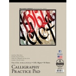 "Bee Paper® Calligraphy Practice Pad 9"" x 12"": Tape Bound, White/Ivory, Pad, 50 Sheets, 9"" x 12"", 16 lb, (model B1005T50-912), price per 50 Sheets pad"