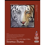 "Bee Paper® Stipple Paper Pad 11"" x 14"": Tape Bound, Pad, 25 Sheets, 11"" x 14"", Stipple, Mixed Media, 132 lb"