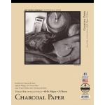 "Bee Paper® Charcoal Paper Pad 11"" x 14"": Tape Bound, White/Ivory, Pad, 25 Sheets, 11"" x 14"", Charcoal, 60 lb, (model B1021T25-1114), price per 25 Sheets pad"
