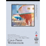 "Bee Paper® Cold Press Watercolor Pad 11"" x 15"" 90lb: Tape Bound, Pad, 15 Sheets, 11"" x 15"", Watercolor, 90 lb, (model B1133T15-1115), price per 15 Sheets pad"