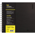 "Bee Paper® Bee Creative Marker Book 8"" x 8"": Wire Bound, White/Ivory, Pad, 50 Sheets, 8"" x 8"", Marker, 108 lb"