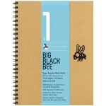 "Bee Paper® Big Black Bee Bogus Recycled Rough Sketch Paper Pad 12"" x 9"": Wire Bound, Brown, Pad, 50 Sheets, Drawing, 70 lb, (model B202CB50-912), price per 50 Sheets pad"