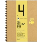 "Bee Paper® Big Yellow Bee Co-Mo Draw Paper 12"" x 9"": Wire Bound, White/Ivory, Pad, 50 Sheets, 9"" x 12"", Drawing, 80 lb, (model B205CB50-912), price per 50 Sheets pad"
